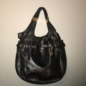 Authentic Jimmy Choo black patent Ramona bag